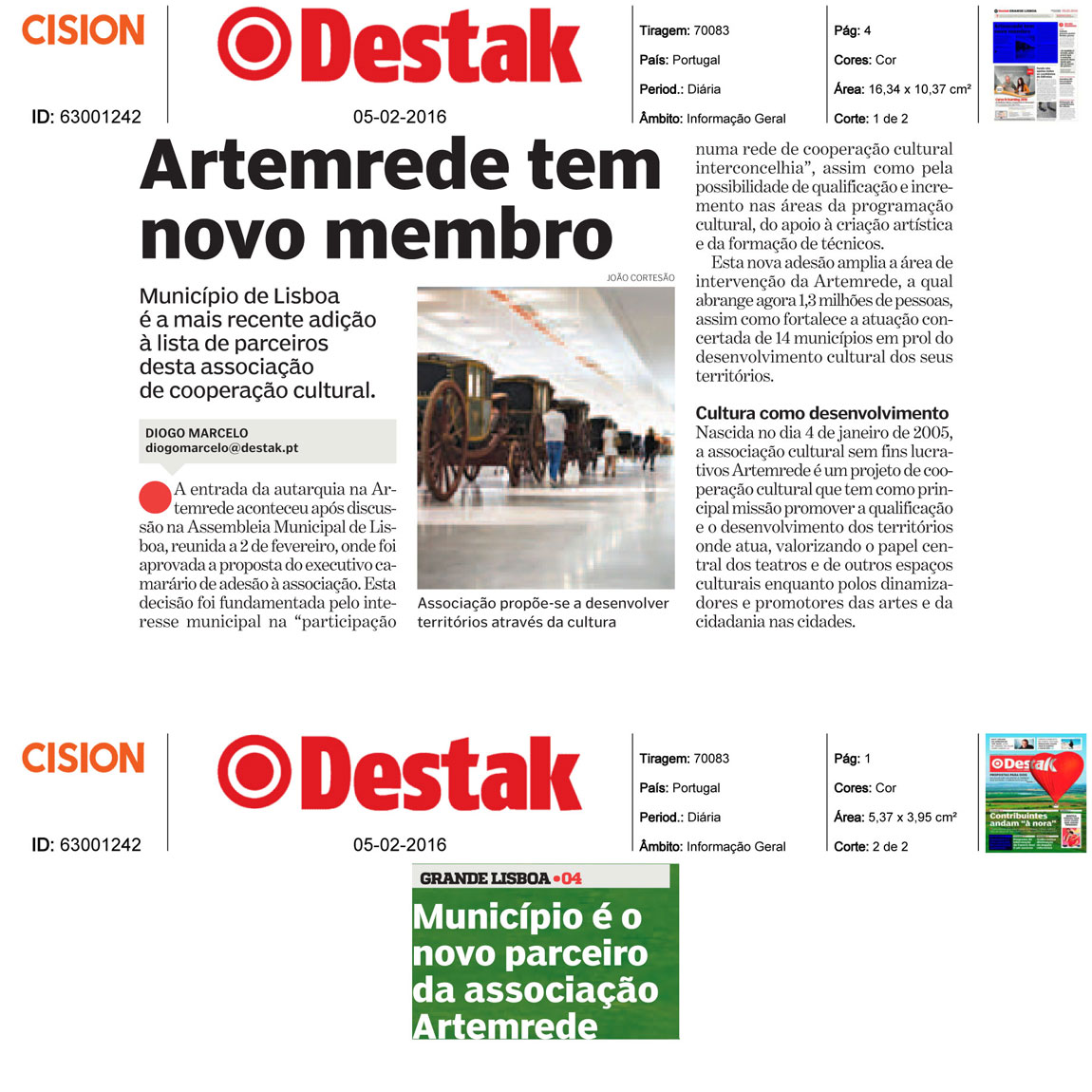 in Destak .: Nova Adesão do Municipio de Lisboa