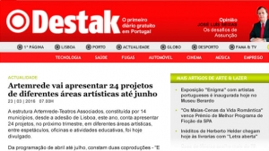 in Destak .: Artemrede will present 24 projects from different artistic fields until June