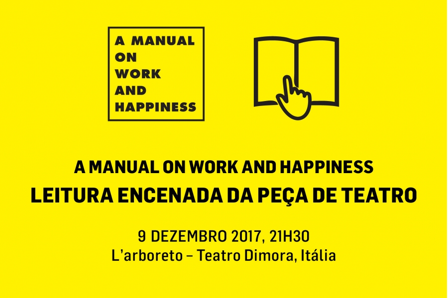 L'arboreto acolhe leitura encenada da peça A Manual on Work and Happiness